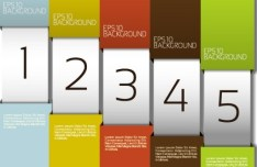 Number Template Banners Vector 02