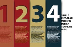 Number Template Banners Vector 05