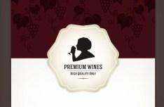 Premium Wines List Cover Vector
