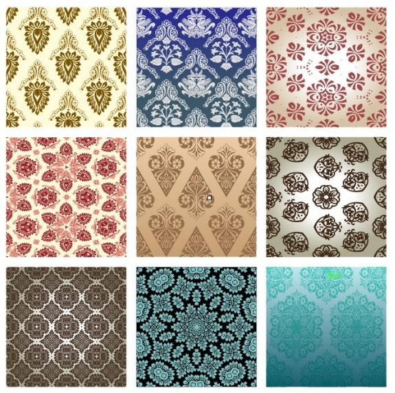 Set Of Vintage Background Patterns 01
