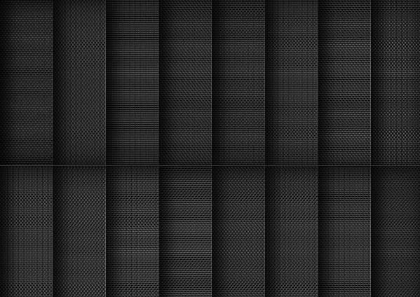 Set of Dark Fabric Photoshop Patterns