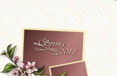 Spring 2013 Floral Background Vector 02