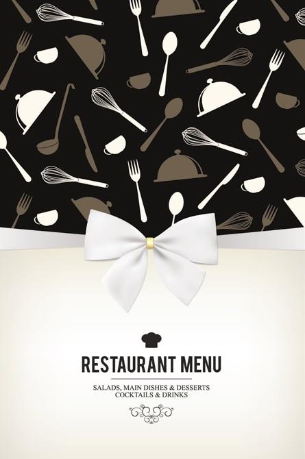 Stylish Restaurant Menu Vector 01