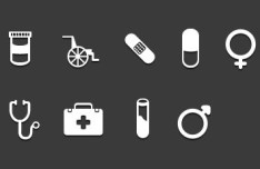 White Medical Icons Layered PSD