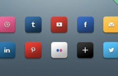 Harkable Social Media Icons Set (PSD)
