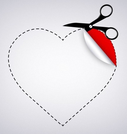 Valentine's Day Heart-shaped Paper Cut PSD
