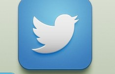 iOS Twitter Icon PSD