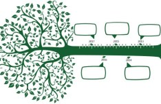 Green Tree Timeline Vector