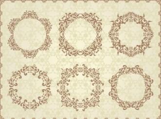 Wedding Invitation Patterns Vector 01