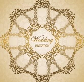 Wedding Invitation Patterns Vector 03
