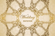 Wedding Invitation Patterns Vector 03