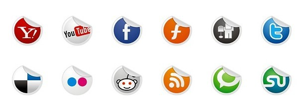Neat and Clearn Social Media Label Icons Set 01