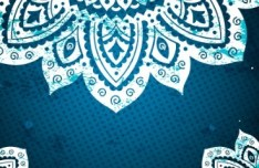 Elegant Blue Floral Patterns Background Vector 01