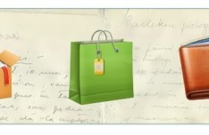 3D Box, Shopping Bag and Wallet Icons