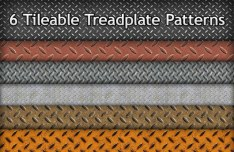 6 Tileable Treadplate Photoshop Patterns