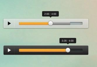 Clean Audio Player GUI PSD