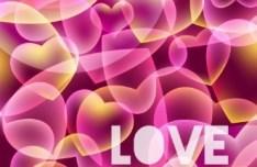 Fantastic Pink Valentine's Day Background Vector