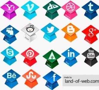 Graduation Hats Social Media Icons