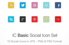 IC Basic Social Media Icons