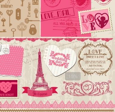 Set of Valentine's Day Elements 02