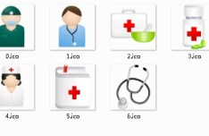 Doctor and Medical Icon Set