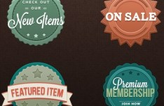 Retro Badge Templates PSD