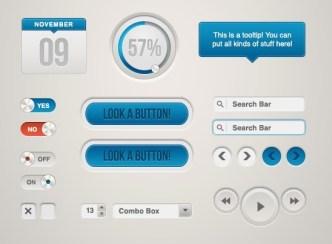 Tactile Web UI Kit PSD