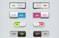 Set Of Switch Buttons PSD