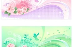 Set of Spring Lemon Tree Vector Illustrations