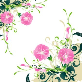 Realism Morning Glory Vector Pattern