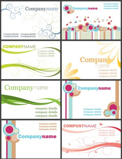 Simple and Elegant Business Card Templates Vector