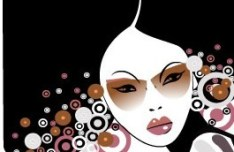 Fashion Pattern Girl Vector Illustration 32