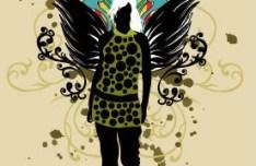 Fashion Pattern Girl Vector Illustration 33