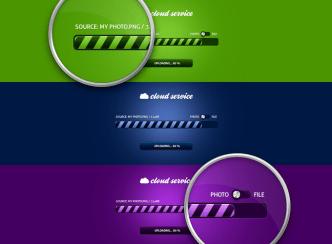 Set of Elegant Progress Bars PSD