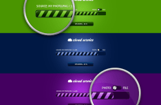 Set of Elegant Progress Bars PSD