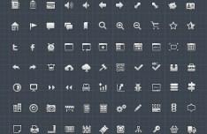 Set of High Quality White Web Icons