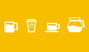 Set of Simple Coffee Cup Icons (PSD)