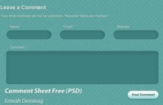 Green Comment Sheet Interface PSD