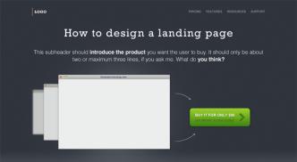 Beautiful Landing Page Design Template PSD
