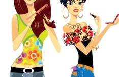 Cartoon Fashion Girls Vector 02