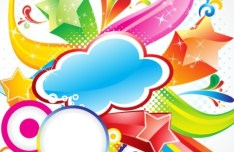 Colorful and Joyful Vector Background For Holiday