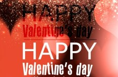 Elegant Happy Valentine's Day Background Vector 01