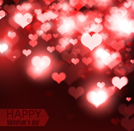 Elegant Happy Valentine's Day Background Vector 02