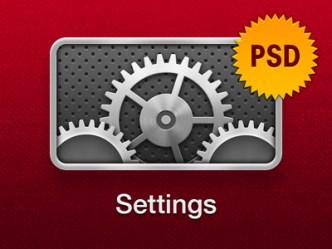 Apple TV Settings Icon PSD