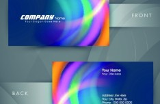 HI-Tech Concept Bussiness Card Template Vector 04