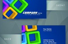 HI-Tech Concept Bussiness Card Template Vector 05