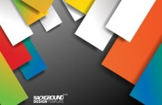 Colored Shapes Vector Background Design Template 02