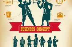 Vector Business Infographic Template 02
