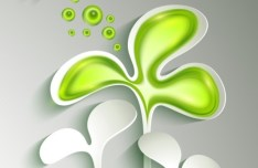 Small Green Sapling Of Spring Concept Background Vector 02