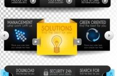 Creative Website Menu Designs Vector 01